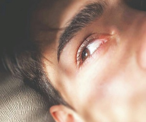 boy, brown eyes, and eyebrows image