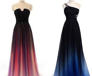 dress, blue, and beautiful image