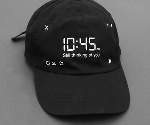 black, grunge, and hat image