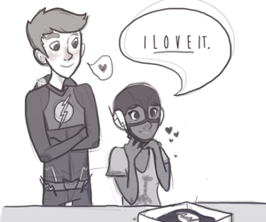fan art, the flash, and grant gustin image