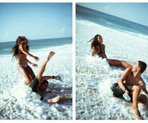 beach, girl, and relationship goals image