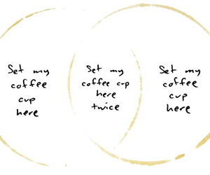 art, coffee, and diagram image