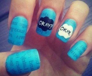 nails, blue, and okay image