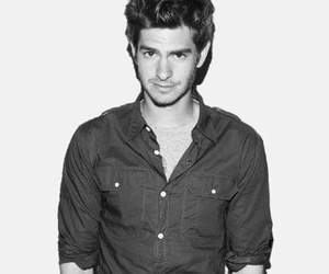 andrew garfield and black and white image