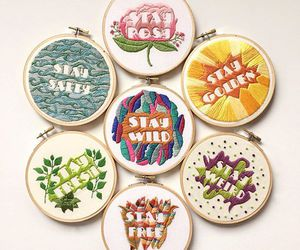 aesthetics, embroidery, and flowers image