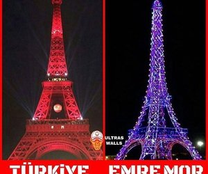eiffel tower, proud, and red image