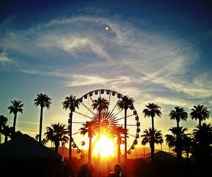 sunset, coachella, and california image