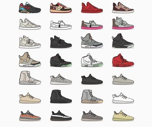 kanye west, shoes, and sneakers image