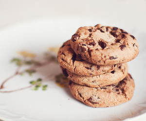 cookie, food styling, and vintage plate image