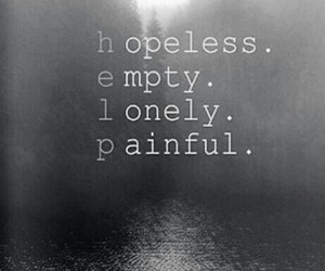 lonely, empty, and hopeless image
