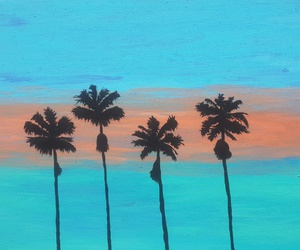 colors, paint, and palmtree image