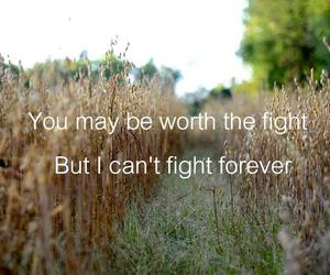 fight, forever, and text image