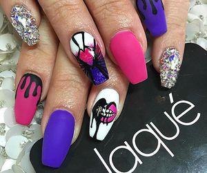 nails, pink, and nail designs image