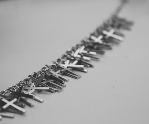 cross, jewelry, and cross necklace image