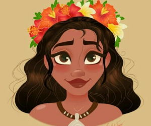 princess, disney, and moana image