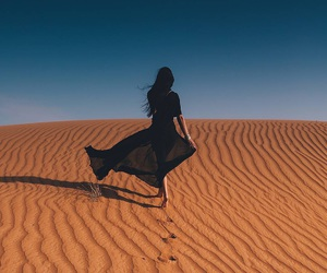 girl, fashion, and desert image