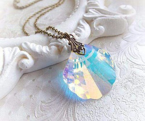 mermaid, necklace, and blue image