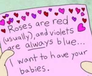 funny, pink, and poem image