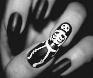 nails, black, and skeleton image