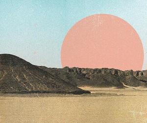 art, grunge, and mountains image