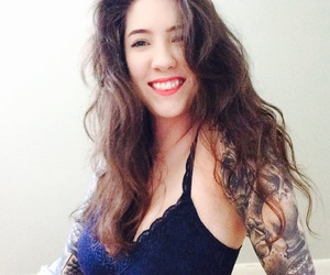 hair, lingerie, and ink image