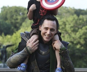 loki, tom hiddleston, and the avengers image