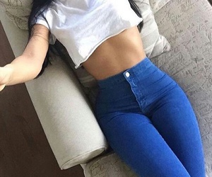 body, jeans, and goals image