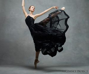 dance, ballerina, and black image