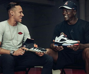 michael jordan and neymar jr image