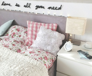 girl, room, and love image
