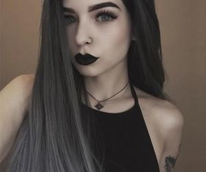 grey hair, hairstyles, and long hair image