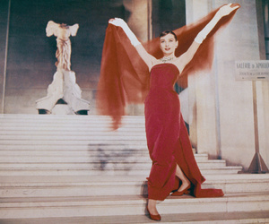 audrey hepburn, red, and funny face image