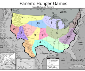 panem, map, and hunger games image