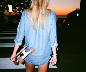 girl, alli simpson, and skate image