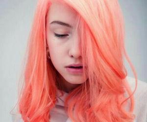 hair, orange, and pink image