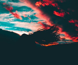 sky, hair, and nature image
