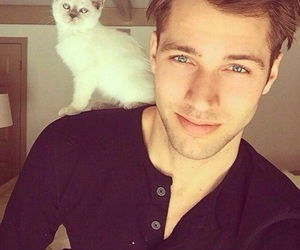 cat, boy, and Hot image