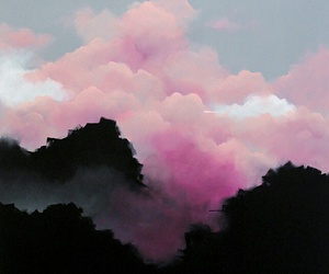 clouds, mountains, and pastel image
