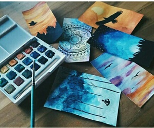 art, paint, and watercolour image