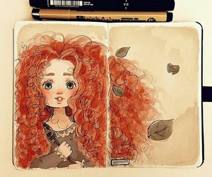 disney, brave, and art image