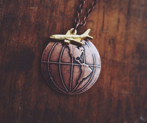 copper, etsy, and globe image
