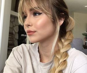 hair, acacia brinley, and braid image
