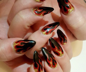 flames and nails image