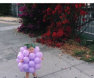 baby, grapes, and purple image