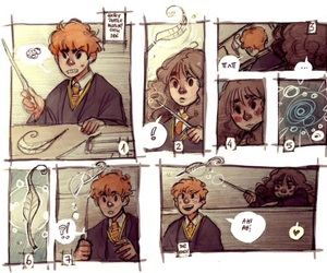 fan art, hermione granger, and ron weasley image