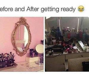 girl, funny, and makeup image