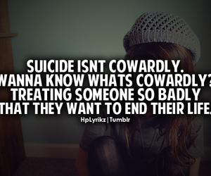 suicide, quote, and bullying image