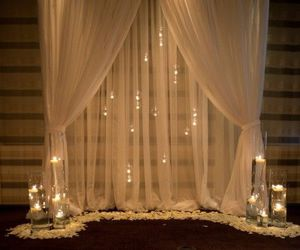 candles, nice, and curtain image