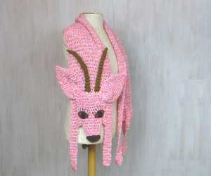 etsy, pink scarf, and wool scarf image