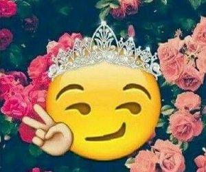 emoji, flowers, and Queen image